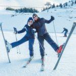 Bourdon et moi au ski